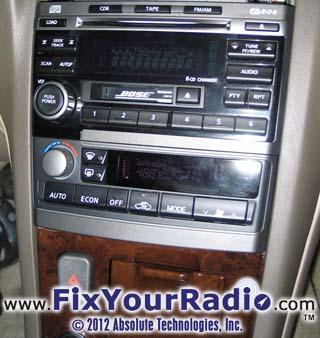 Figure 2 4 Nissan Maxima 2003 Radio Removal