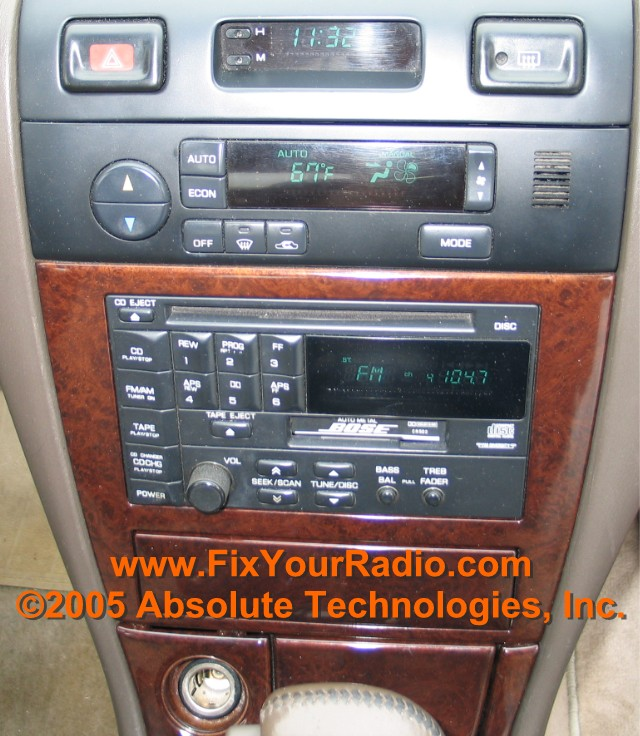 Radio Repairs Including Blank Display Ford Nissan Quest Rhshareamemory: 1996 Nissan Maxima Car Radio At Elf-jo.com